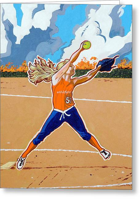 The Wildfire Pitcher Greeting Card