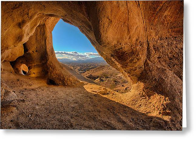 The Wind Caves Greeting Card by Peter Tellone