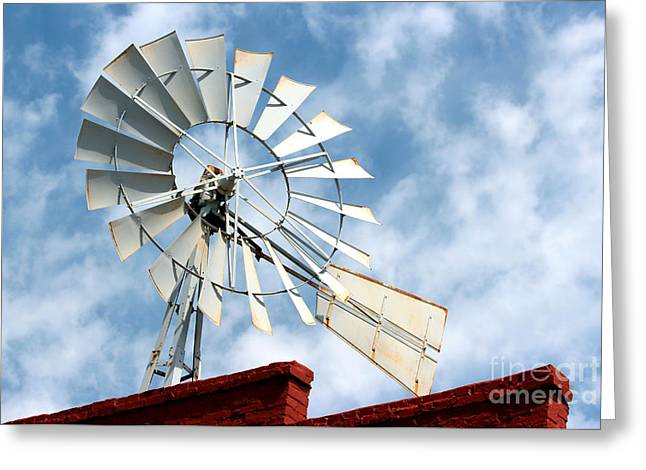 The Wind Wheel Greeting Card by Kathy  White