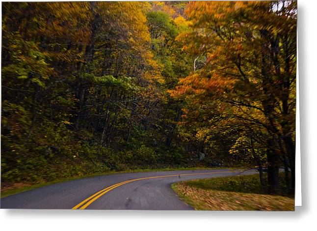 Greeting Card featuring the photograph The Winding Road by Debra Crank