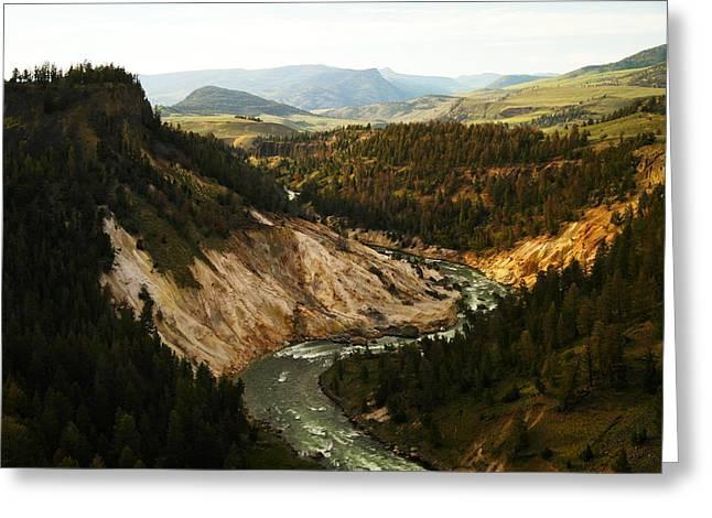 The Winding Yellowstone Greeting Card by Jeff Swan