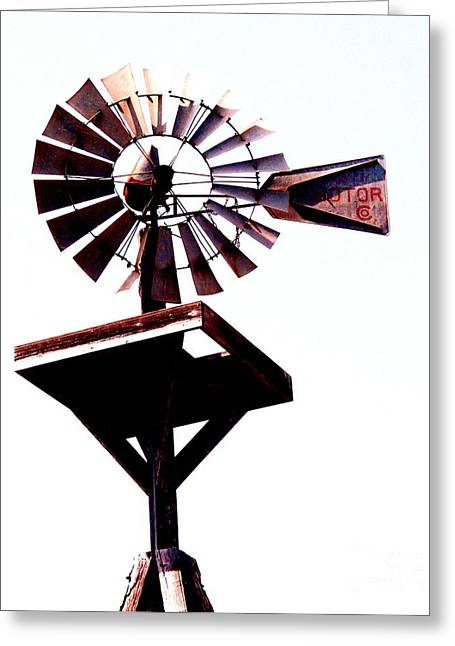 The Windmill Greeting Card by Avis  Noelle