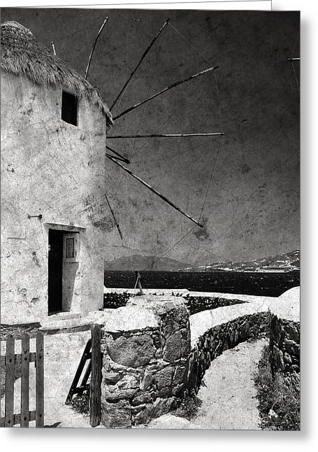 The Windmills Of Mykonos 3 Greeting Card
