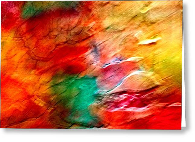 The Winds Of Color Greeting Card by Carolyn Repka