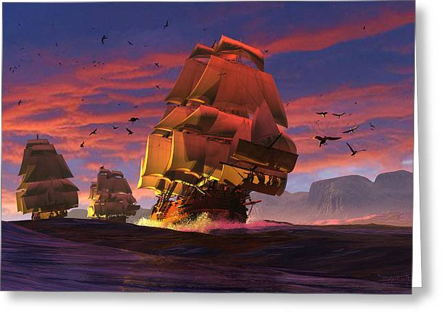 The Winds Of Triton Greeting Card