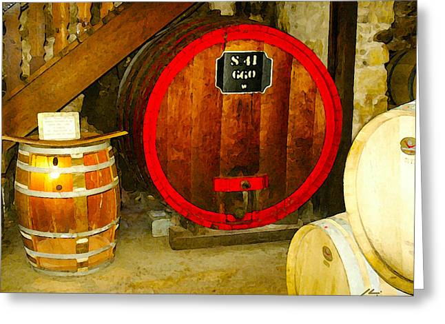 The Wine Cellar Greeting Card by Sotiri Catemis