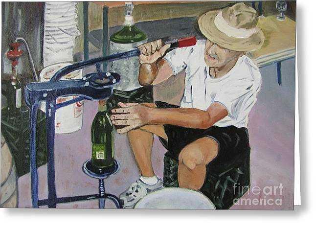 The Wine Maker Greeting Card