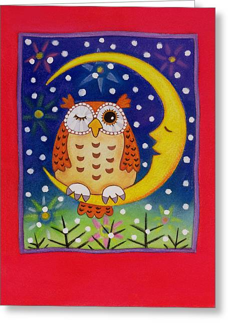 The Winking Owl Greeting Card by Cathy Baxter