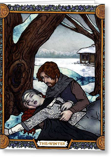 The Winter Bookplate Greeting Card