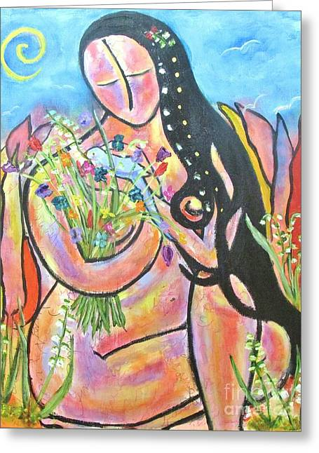 The Wise Hand Greeting Card by Chaline Ouellet