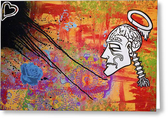 The Wise Man Strays Far From The Heart Greeting Card by Bobby Zeik