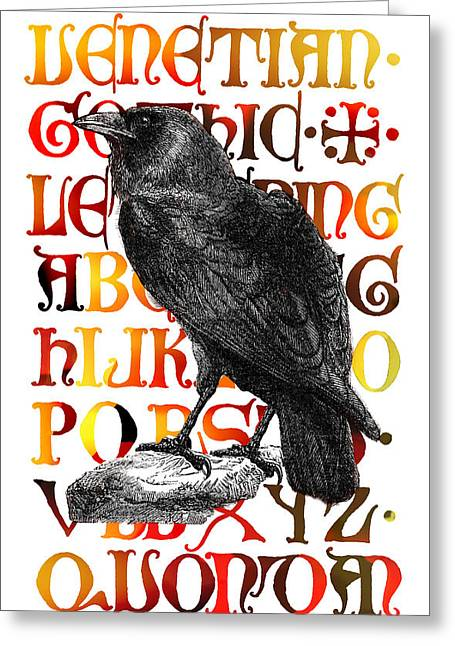 The Wise Raven Greeting Card