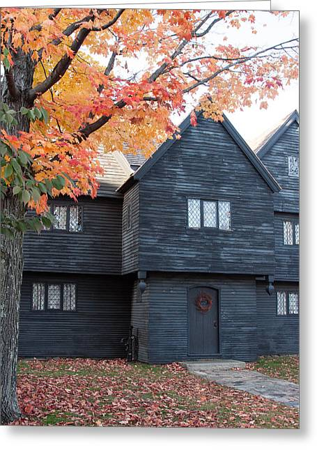 The Witch House Of Salem Greeting Card by Jeff Folger
