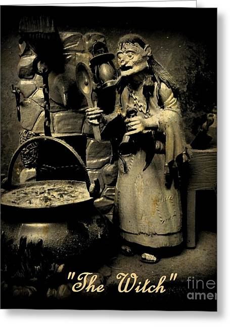 The Witch Greeting Card by John Malone
