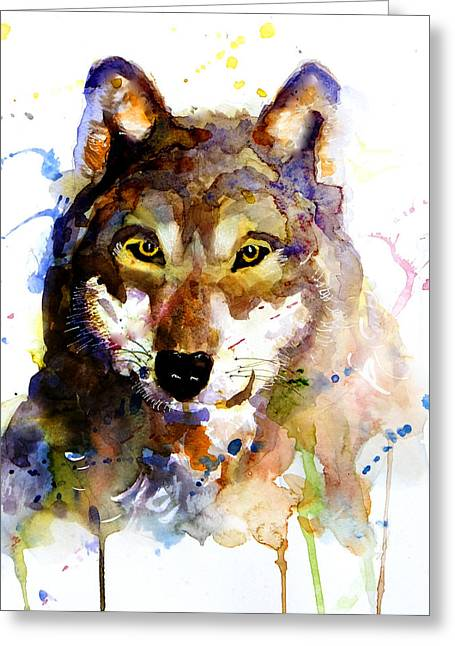The Wolf Greeting Card by Steven Ponsford