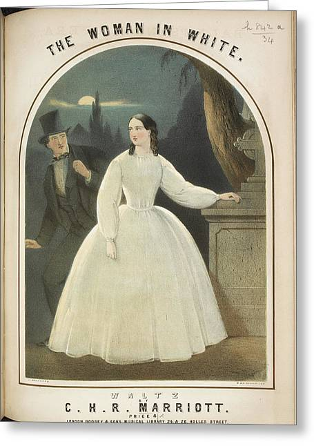 The Woman In White Greeting Card by British Library