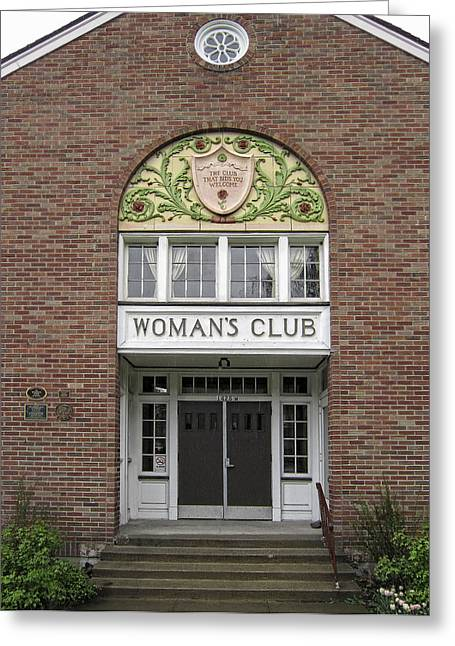 The Womans Club Bids You Welcome Greeting Card by Daniel Hagerman