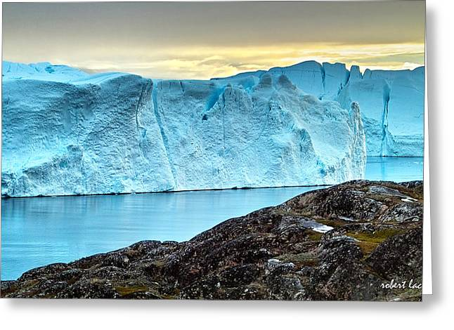 The Wonder Of Greenland Greeting Card by Robert Lacy