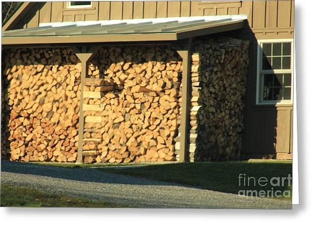The Wood Pile Greeting Card