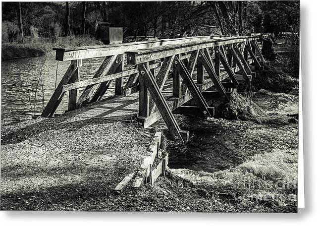 The Wooden Bridge Greeting Card by Hannes Cmarits