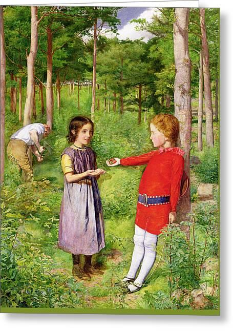 The Woodmans Daughter Greeting Card by Sir John Everett Millais