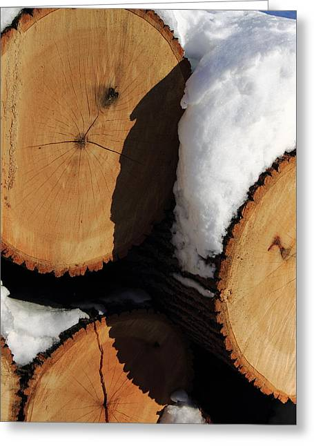 The Woodpile Greeting Card by Frank Romeo