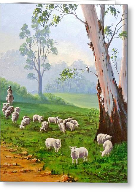 The Wool Road Greeting Card by Anne Gardner