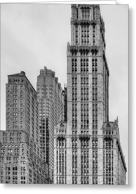The Woolworth Downtown Greeting Card by JC Findley