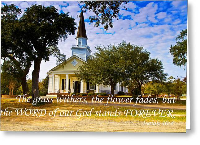 The Word Of God Stands Greeting Card