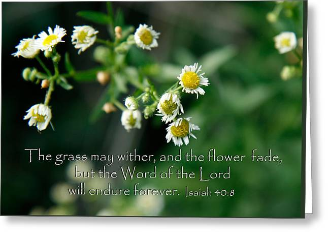 The Word Of The Lord Will Endure Greeting Card
