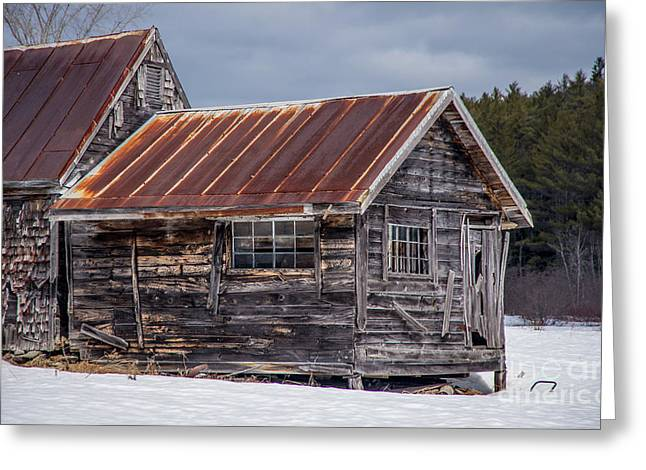 The Work Shed Greeting Card by Alana Ranney