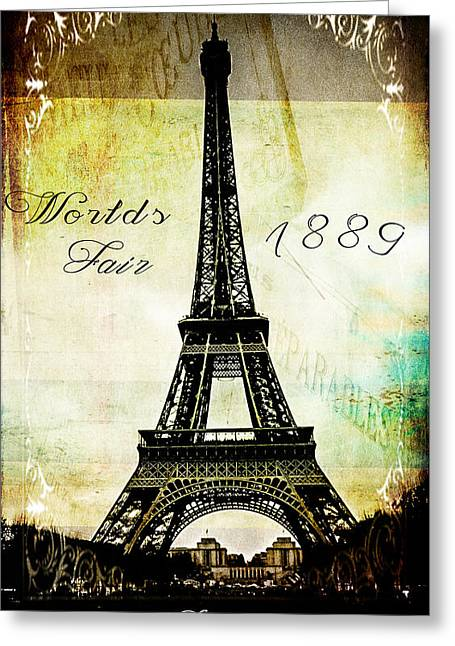 The Worlds Fair Of 1889 Greeting Card by Steven  Taylor