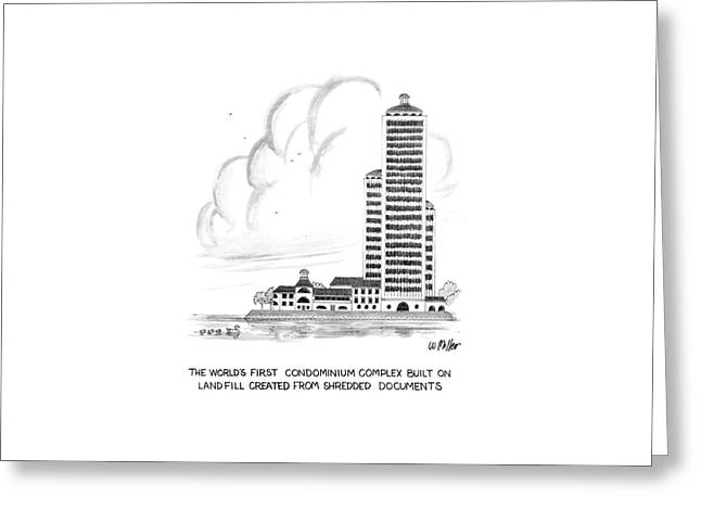 The World's First Condiminium Complex Built Greeting Card by Warren Miller