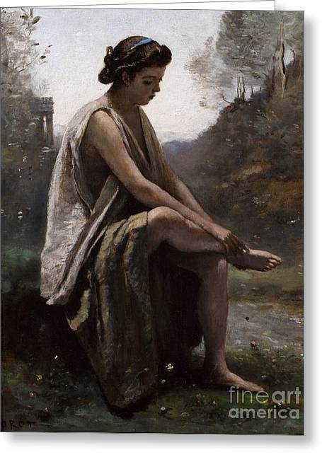The Wounded Eurydice Greeting Card by Jean Baptiste Camille Corot