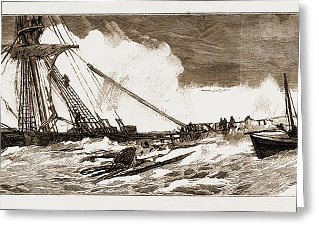 The Wreck Of The Indian Chief The Ramsgate Lifeboat Greeting Card by Litz Collection