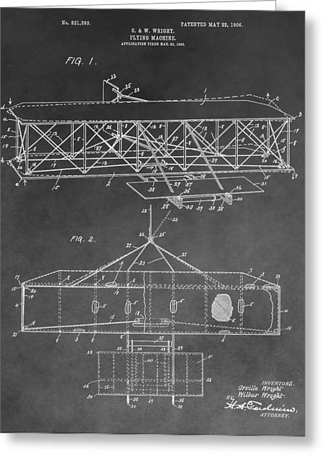 The Wright Brothers Airplane Greeting Card