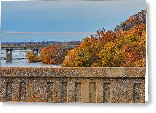 The Wright's Ferry Bridge In Fall Greeting Card