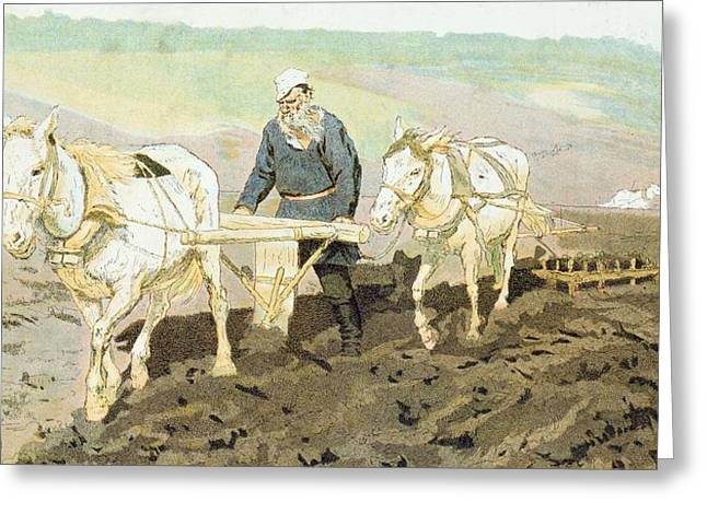 The Writer Lev Nikolaevich Tolstoy Greeting Card