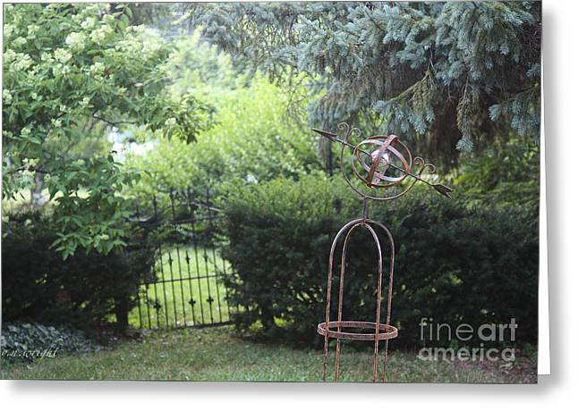 The Wrought Iron Gate Greeting Card by Yvonne Wright