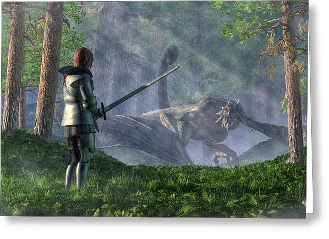The Wyvern Greeting Card