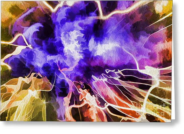 The Xpinsion No 1 Greeting Card by Paul W Sharpe Aka Wizard of Wonders