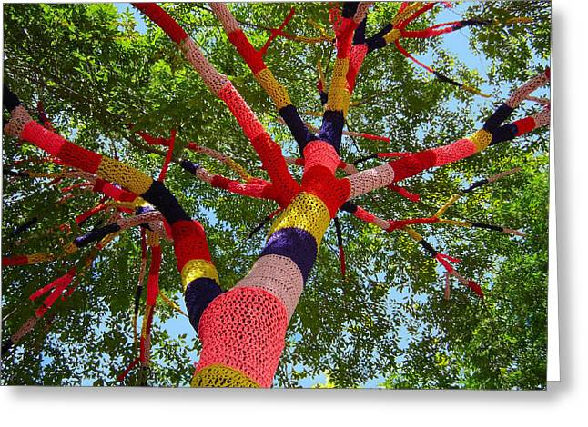 The Yarn Tree Greeting Card by Dan Redmon