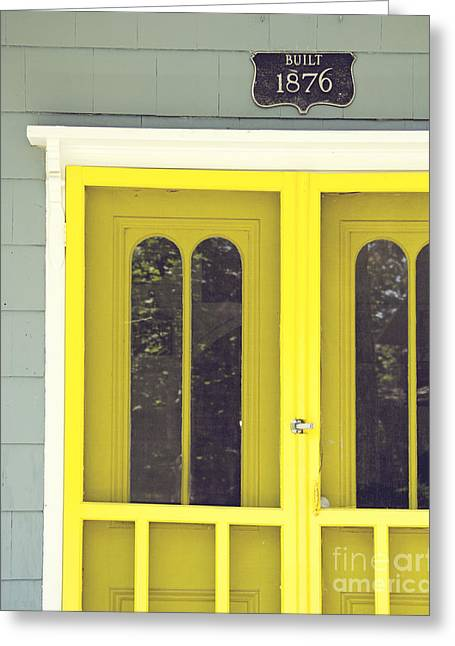 The Yellow Door Greeting Card by Jillian Audrey Photography
