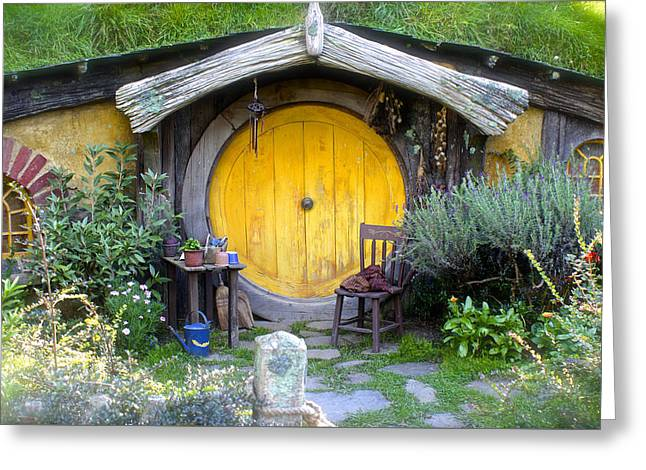 Yellow Hobbit Door Greeting Card