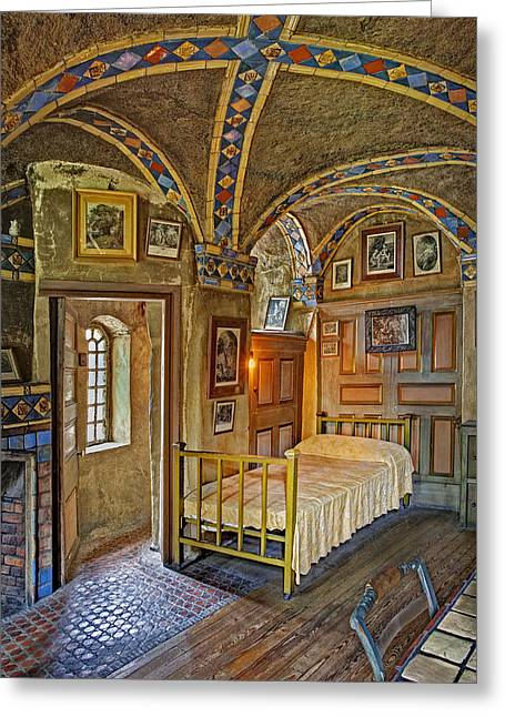 The Yellow Room At Fonthill Castle Greeting Card by Susan Candelario