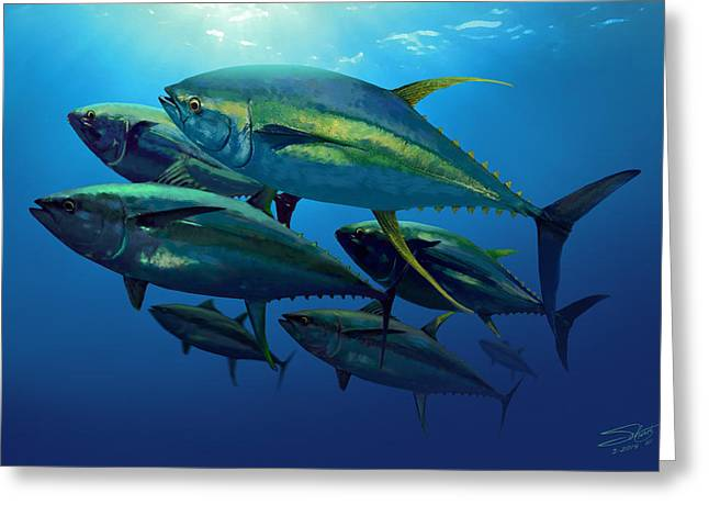 Yellowfin Greeting Card