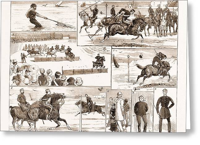 The Yeomanry Week At Weymouth, Uk, 1881 1. Business Greeting Card
