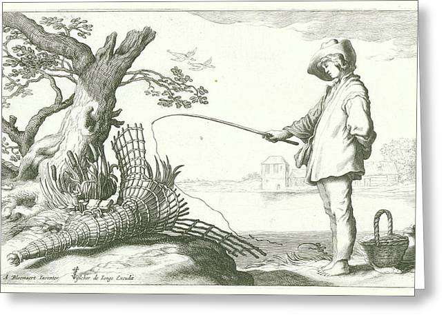 The Young Fisherman, Nicolaes Visscher Greeting Card by Nicolaes Visscher (i)