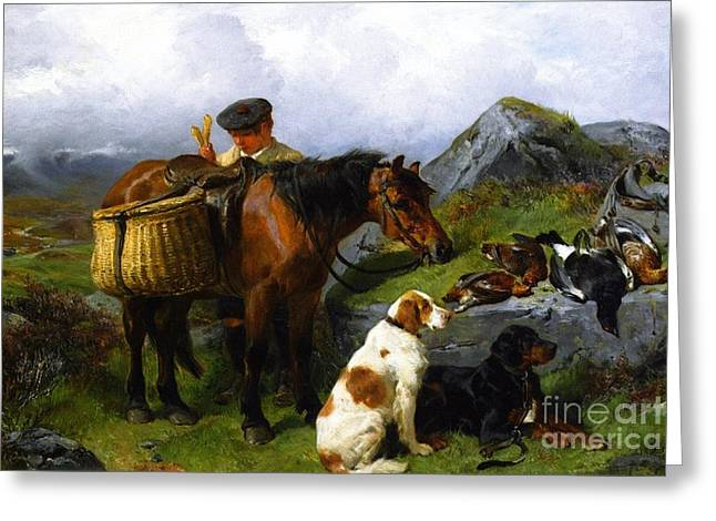 The Young Gamekeeper Greeting Card by Celestial Images