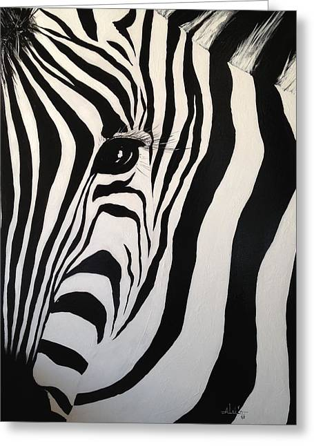 The Zebra With One Eye Greeting Card